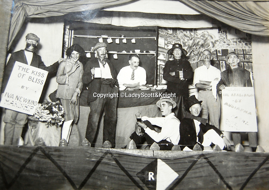 BNPS.co.uk (01202 558833)<br /> Pic: LaceyScott&Knight/BNPS<br /> <br /> There was still time for a concert party.<br /> <br /> From the far reaches of the British Empire - Remarkable previously unseen photos of a forgotten military campaign has come to light 100 years later.<br /> <br /> The little known Waziristan campaign of 1919 and 1920 saw the British and Indian forces engaged in fierce fighting against Afghan tribesman who invaded northern India.<br /> <br /> However, the conflict, which saw the use of the might of the RAF in targeted bombing raids, has become almost lost to history since it took place just after the Great War.<br /> <br /> The battleground was the rugged, remote, mountainous region which is modern day northern Pakistan, on the southern border of Afghanistan.