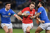 Jayden Hayward and Edoardo Padovani Italy, Liam Williams Wales.<br />  <br /> Roma 9-02-2019 Stadio Olimpico<br /> Rugby Six Nations tournament 2019  <br /> Italy - Wales <br /> Foto Antonietta Baldassarre / Insidefoto