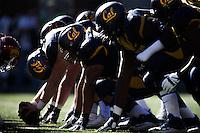BERKELEY, CA -- October 31, 2015: The visiting University of Southern California Trojans defeated the University of California, Berkeley Golden Bears 27-21 at Memorial Stadium in Berkeley, California.