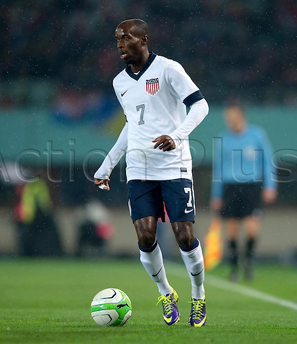 19.11.2013. Vienna, Austria.  USA's DaMarcus Beasley plays the ball during the international soccer friendly match between Austria and USA at Ernst-Happel Stadium in Vienna, Austria, 19 November 2013.