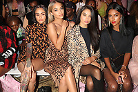 NEW YORK, NY- SEPTEMBER 8: Kehlani, Jasmine Sanders and Shanina Shaik at the Saweetie NYFW 2019 Runway Show in New York City on September 8, 2019. <br /> CAP/MPIWG<br /> ©WG/MPI/Capital Pictures