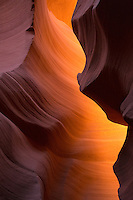 Subtle changes in the intensity of the light is captured deep in the Antelope Canyons outside of Page, Arizona.