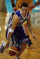 Saints guard Luke Martin during the NBL Round 9 match between the Wellington Saints and Nelson Giants at TSB Bank Arena, Wellington, New Zealand on Thursday 7 May 2009. Photo: Dave Lintott / lintottphoto.co.nz