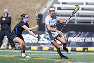 Towson, MD - March 5, 2017: Towson Tigers Emily Gillingham (45) in action during game between Towson and Florida at  Minnegan Field at Johnny Unitas Stadium  in Towson, MD. March 5, 2017.  (Photo by Elliott Brown/Media Images International)