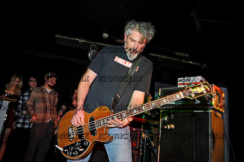 KARMA TO BURN - bassist Eric von Cutter - performing live at the Underworld in Camden London UK - 28 Mar 2016.  Photo credit: Zaine Lewis/IconicPix