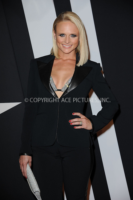 WWW.ACEPIXS.COM<br /> September 9, 2014 New York City<br /> <br /> Miranda Lambert attending Fashion Rocks 2014 at the Barclays Center September 9, 2014 in New York City.<br /> <br /> Please byline: Kristin Callahan/AcePictures<br /> <br /> ACEPIXS.COM<br /> <br /> Tel: (212) 243 8787 or (646) 769 0430<br /> e-mail: info@acepixs.com<br /> web: http://www.acepixs.com