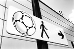 World Cup 1998, France 98<br /> Stadium, sign<br /> (Exact date tbc). Photo by Tony Davis