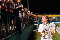 Portland Thorns forward Alex Morgan (13). The Portland Thorns defeated the Western New York Flash 2-0 during the National Women's Soccer League (NWSL) finals at Sahlen's Stadium in Rochester, NY, on August 31, 2013.