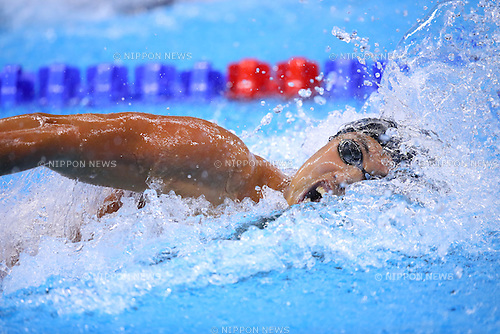 Shinri Shioura (JPN), <br /> AUGUST 9, 2016 - Swimming : <br /> Men's 100m Freestyle Heat <br /> at Olympic Aquatics Stadium <br /> during the Rio 2016 Olympic Games in Rio de Janeiro, Brazil. <br /> (Photo by Yohei Osada/AFLO SPORT)