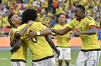 BARRANQUILLA - COLOMBIA -01-09-2016: Macnelly Torres jugador de Colombia celebra después de anotar un gol a Venezuela durante partido de la fecha 7 para la clasificación a la Copa Mundial de la FIFA Rusia 2018 jugado en el estadio Metropolitano Roberto Melendez en Barranquilla./  Macnelly Torres  player of Colombia celebrates after scoring a goal to Venezuela during match of the date 7 for the qualifier to FIFA World Cup Russia 2018 played at Metropolitan stadium Roberto Melendez in Barranquilla. Photo: VizzorImage / Gabriel Aponte / Cont