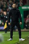 08.03.2019, Weserstadion, Bremen, GER, 1.FBL, Werder Bremen vs FC Schalke 04<br /> <br /> DFL REGULATIONS PROHIBIT ANY USE OF PHOTOGRAPHS AS IMAGE SEQUENCES AND/OR QUASI-VIDEO.<br /> <br /> im Bild / picture shows<br /> Domenico Tedesco (Trainer FC Schalke 04) resigniert nach 4:2 Gegentreffer in Coachingzone / an Seitenlinie, <br /> <br /> Foto &copy; nordphoto / Ewert