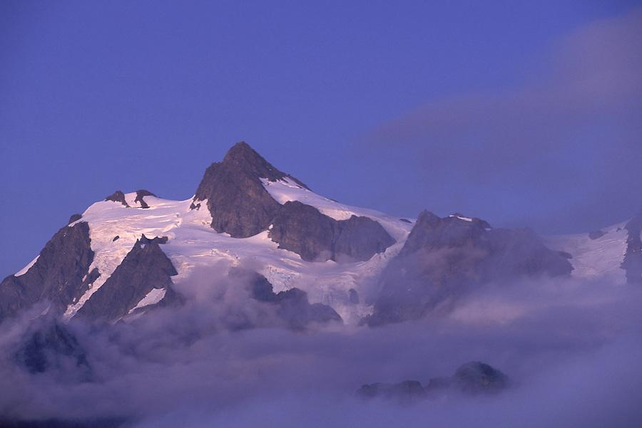 Mt Shuksan at dusk, Cascade Mountains, North Cascades, Washington