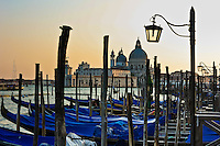 Venice gondolas in the late afternoon