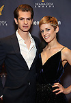 Andrew Garfield and Denise Gough during the arrivals for the 2018 Drama Desk Awards at Town Hall on June 3, 2018 in New York City.