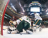 Ben Smith (BC - 12), Joe Fallon (Vermont - 29), (Gibbons), Kevan Miller (Vermont - 15) - The Boston College Eagles defeated the University of Vermont Catamounts 4-0 in the Hockey East championship game on Saturday, March 22, 2008, at TD BankNorth Garden in Boston, Massachusetts.