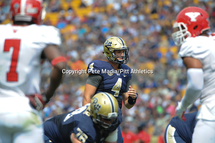 PITTSBURGH, PA, SEPT 5: The Pitt football team opens the 2015 season at home against Youngstown State at Heinz Field in Pittsburgh, Pennsylvania on September 5, 2015.<br /> Photographer: Pete Madia/Pitt Athletics