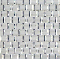 Wicker, a hand-cut tumbled mosaic, shown in Afyon White , is part of the Tissé™ collection for New Ravenna.