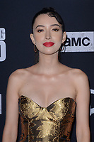 """LOS ANGELES - SEP 23:  Christian Serratos at the """"The Walking Dead"""" Season 10 Premiere Event at the TCL Chinese Theater on September 23, 2019 in Los Angeles, CA"""