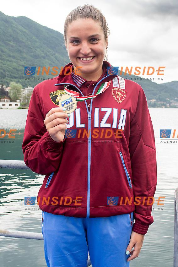 Ilaria Raimondi Fiamme Oro<br /> 25 Km donne<br /> Omegna, Lago D'Orta<br /> FIN 2016 Campionato Italiano Assoluto Nuoto di Fondo <br /> <br /> Day 05 14-06-2016<br /> Photo Laura Binda/Deepbluemedia/Insidefoto
