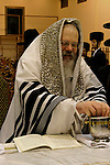 Israel, Bnei Brak. The Synagogue of the Premishlan congregation, Simchat Torah (on the eights day of Succot), the Rebbe is washing his hands<br />