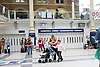 Tube Strike <br /> inside and outside Liverpool Street Station London, Great Britain <br /> 6th August 2015 <br /> Inside the station concourse with the tube station entrance closed <br /> Photograph by Elliott Franks <br /> Image licensed to Elliott Franks Photography Services