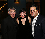 Stephen Schwartz, Kristen Anderson-Lopez and Robert Lopez attends the After Party for the Dramatists Guild Foundation toast to Stephen Schwartz with a 70th Birthday Celebration Concert at The Hudson Theatre on April 23, 2018 in New York City.