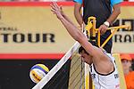 30.05.2015, Moskau, Vodny Stadion<br /> Moskau Grand Slam, Main Draw / Viertelfinale<br /> <br /> Block Jonathan Erdmann (#1 GER)<br /> <br />   Foto © nordphoto / Kurth