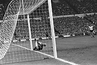 30.07.1966. Wembley Stadium, London England. 1966 World Cup final England versus Germany (4-2) After Extra time.  German goalkeeper Hans Tilkowski in action.
