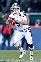 PHILADELPHIA, PA - DEC 8, 2018: Navy Midshipmen wide receiver Zach Abey (9) looks to pass the ball down field during game between Army and Navy at Lincoln Financial Field in Philadelphia, PA. Army defeated Navy 17-10 to win the Commander in Chief Cup. (Photo by Phil Peters/Media Images International)