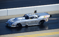 Apr. 14, 2012; Concord, NC, USA: NHRA pro mod driver XXXX during qualifying for the Four Wide Nationals at zMax Dragway. Mandatory Credit: Mark J. Rebilas-