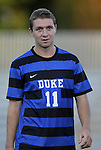 14 September 2012: Duke's Nick Palodichuk. The Duke University Blue Devils defeated the Clemson University Tigers 2-0 at Koskinen Stadium in Durham, North Carolina in a 2012 NCAA Division I Men's Soccer game.