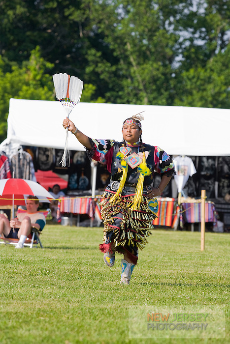 Traditonal Jingle Dress Dancer, Nanticoke Lenni-Lenapi Indian Pow Wow