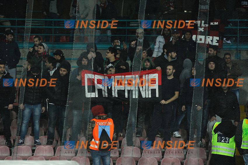 Tifosi Milan<br /> Napoli 08-02-2014 Stadio San Paolo - Football 2013/2014 Serie A. Napoli - Milan Foto Insidefoto