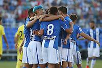 Leganes players during the XXXVII trophy of Legane's City between CD Leganes and Villarreal CF at Butarque Stadium. August 13, 2016. (ALTERPHOTOS/Rodrigo Jimenez) /NORTEPHOTO