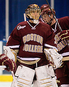 Chris Venti (BC - 30) - The Merrimack College Warriors defeated the Boston College Eagles 5-3 on Sunday, November 1, 2009, at Lawler Arena in North Andover, Massachusetts splitting the weekend series.
