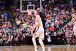 DALLAS, TX - MARCH 31: Katie Lou Samuelson #33 of the Connecticut Huskies reacts to a play during the 2017 Women's Final Four at American Airlines Center on March 31, 2017 in Dallas, Texas. (Photo by Justin Tafoya/NCAA Photos via Getty Images)