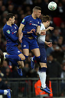 Ross Barkley of Chelsea and Harry Kane of Tottenham Hotspur during Tottenham Hotspur vs Chelsea, Caraboa Cup Football at Wembley Stadium on 8th January 2019