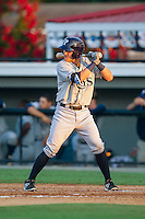 Nick Ciuffo (14) of the Princeton Rays at bat against the Burlington Royals at Burlington Athletic Park on July 11, 2014 in Burlington, North Carolina.  The Rays defeated the Royals 5-3.  (Brian Westerholt/Four Seam Images)