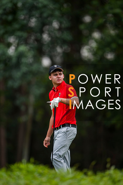 Rohan Boettcher of Brazil in action at the 9th Faldo Series Asia Grand Final 2014 golf tournament on March 18, 2015 at Faldo course in Mid Valley clubhouse in Shenzhen, China. Photo by Xaume Olleros / Power Sport Images
