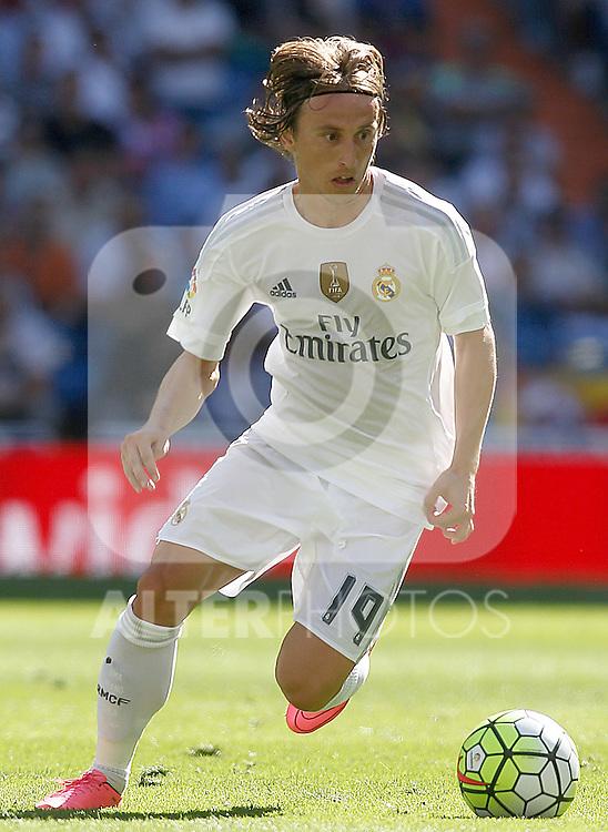 Real Madrid's Luka Modric during La Liga match. September 19,2015. (ALTERPHOTOS/Acero)