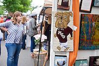 Cotton District Arts Festival (CDAF): art vendor.<br />  (photo by Megan Bean / &copy; Mississippi State University)