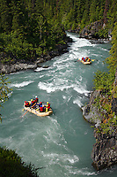 White Water Rafting on Six Mile Creek, Kenai Peninsula, Chugach National Forest, Alaska.
