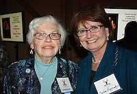 NWA Democrat-Gazette/CARIN SCHOPPMEYER  Helene Furst (left) and Carleen Ringgenburg help support Single Parent Scholarship Fund of NWA at Jingle Mingle.