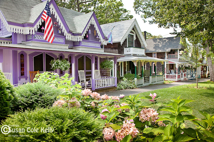 Victorian cottages on Marthas Vineyard, Cape Cod, MA, USA