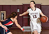 Gabrielle Zaffiro #13, North Shore junior, right, surveys the court during the Nassau County varsity girls basketball Class A quarterfinals against Cold Spring Harbor at North Shore High School in Glen Head, NY on Wednesday, Feb. 22, 2017. She recorded her 2,000th career point in the first quarter and scored 34 points in North Shore's 74-46 win.