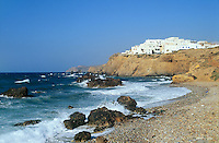 - Naxos island (Cyclades), village on cape in the Grotta zone near chief town Chora..- isola di Naxos (Cicladi), villaggio su promontorio nella zona Grotta nei pressi del capoluogo Chora.