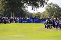 Suzann Pettersen Team Europe on the 7th tee during Day 1 Fourball at the Solheim Cup 2019, Gleneagles Golf CLub, Auchterarder, Perthshire, Scotland. 13/09/2019.<br /> Picture Thos Caffrey / Golffile.ie<br /> <br /> All photo usage must carry mandatory copyright credit (© Golffile | Thos Caffrey)