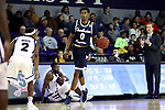 HIGH POINT, NC - JANUARY 06: Charleston Southern's Jamaal David. The High Point University of Panthers hosted the Charleston Southern University Buccaneers on January 6, 2018 at Millis Athletic Convocation Center in High Point, NC in a Division I men's college basketball game. HPU won the game 80-59.