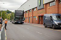 27th June 2020; Carrow Road, Norwich, England; FA Cup 6th round tie, Norwich City versus Manchester united; Teams arriving at the stadium pre-match;  Manchester United team coach arriving at Carrow Road