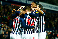 25th February 2020; The Hawthorns, West Bromwich, West Midlands, England; English Championship Football, West Bromwich Albion versus Preston North End; West Bromwich Albion players celebrate Hal Robson-Kanu's opening goal after five minutes for 1-0